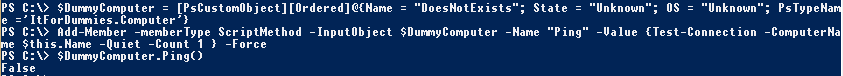 PowerShell-Object-CustomMethod-PingFailed