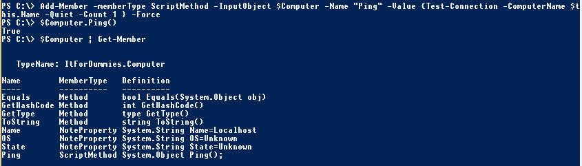 PowerShell-Object-CustomMethod