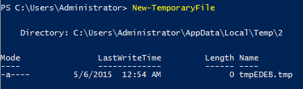New-TemporaryFile