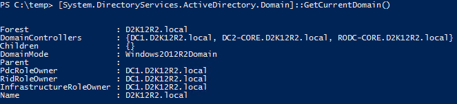 Active Directory Trusts PowerShell GetCurrentDomain