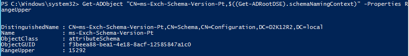 Active Directory Schema for Exchange