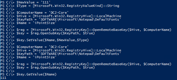 Edit Remote Registry Key PowerShell - After