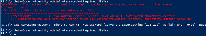 Active Directory Password not Required - Force Password Required