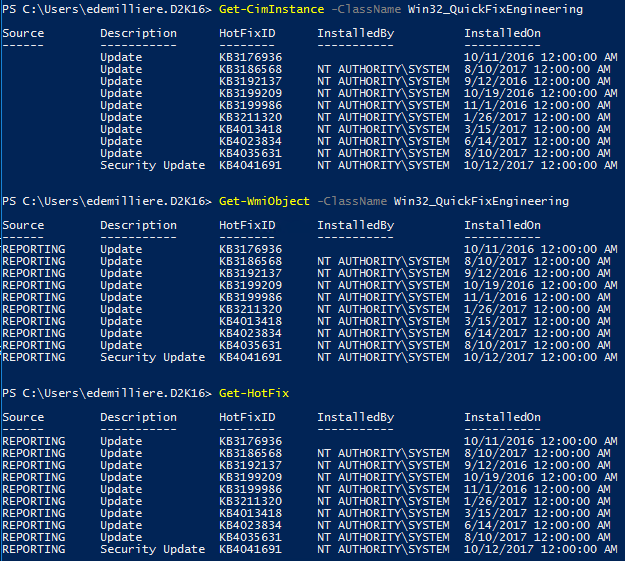 WSUS Windows Update Compliance PowerShell - Methods